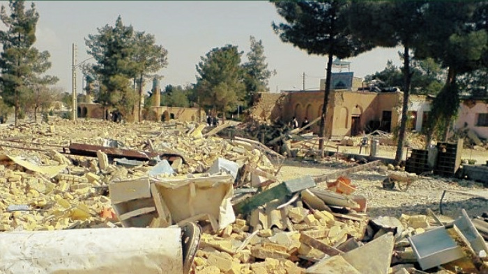 Destruction of Baha'i cemetery Shiraz by Iranian Revolutionary Guards in 2014